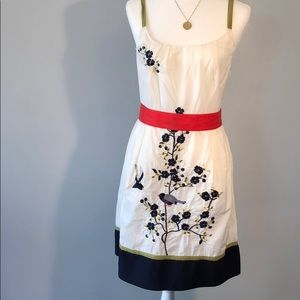 Anthropology Embroidery Dress